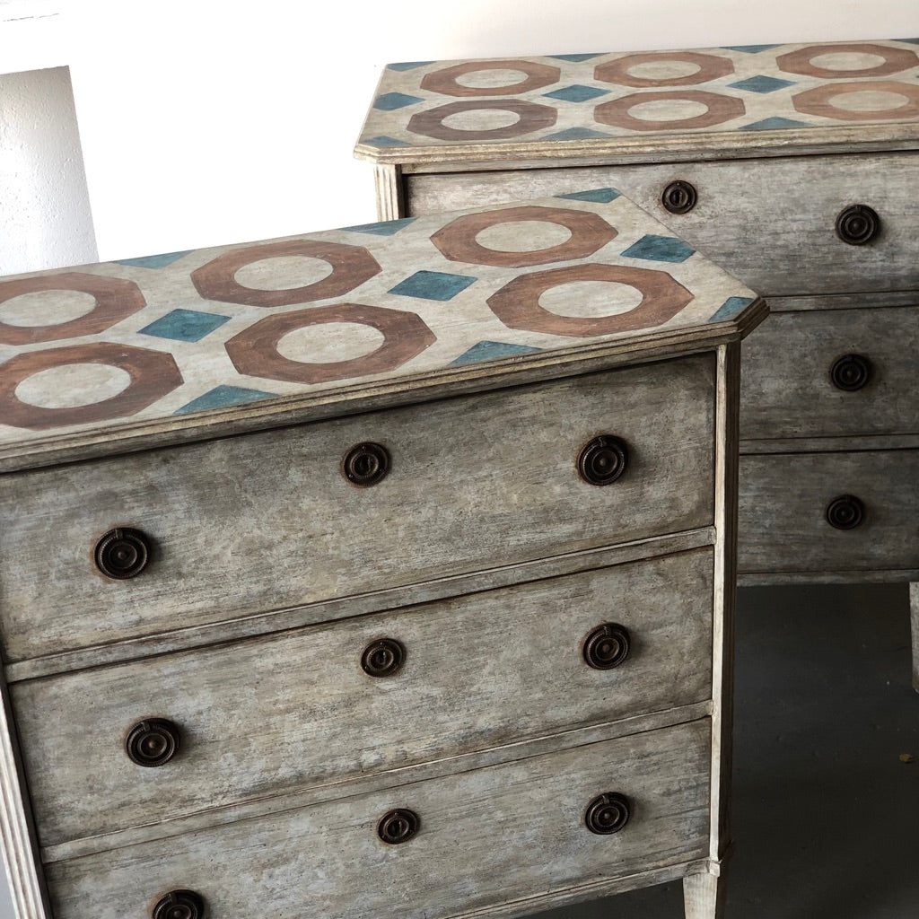 Pair of Painted Swedish Floored Chests - Get the Gusto, commode - interior design, shop Get the Gusto - Get the Gusto, Amazon Get the Gusto - gusto shop