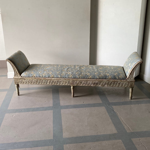 Early 19th C. Gustavian Wall Bench