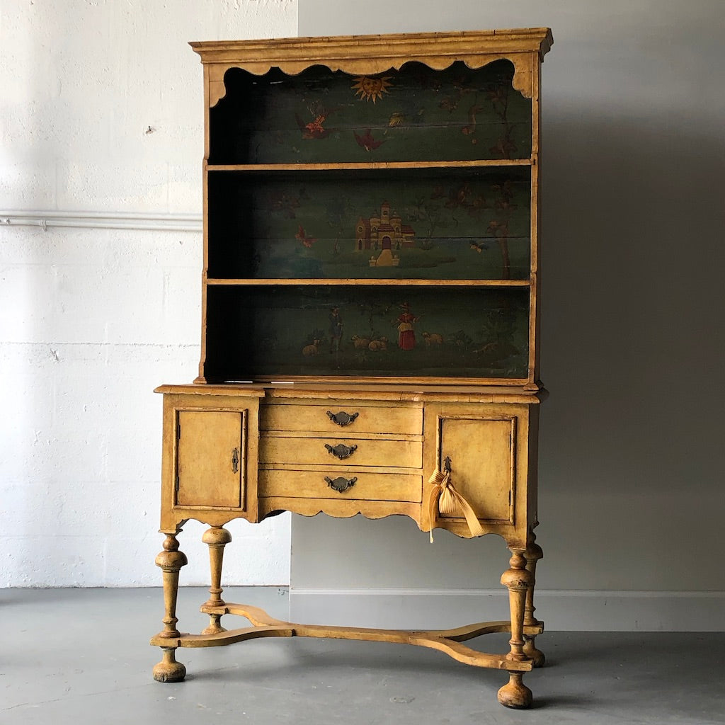 19th C. Continental Motif Painted Cupboard - Get the Gusto, cupboard - interior design, shop Get the Gusto - Get the Gusto, Amazon Get the Gusto - gusto shop