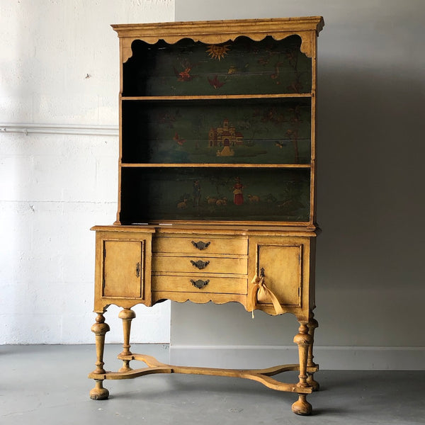 19th C. Continental Motif Painted Cupboard - Get the Gusto, Case-goods - interior design, shop Get the Gusto - Get the Gusto, Amazon Get the Gusto - gusto shop