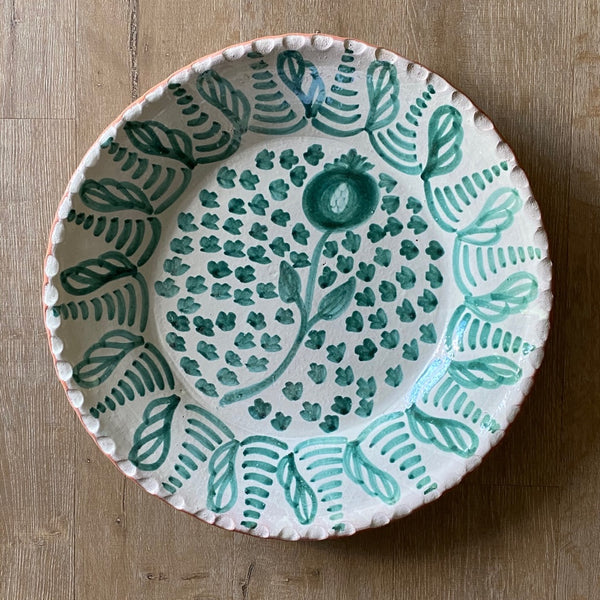 Hand Thrown Pomegranate Talavera Platter