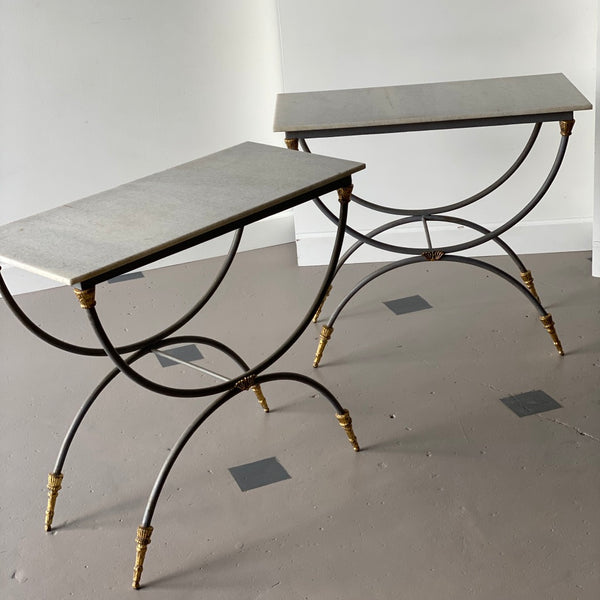Directoire-Style Patinated Metal Side Tables - Get the Gusto, Case-goods - interior design, shop Get the Gusto - Get the Gusto, Amazon Get the Gusto - gusto shop