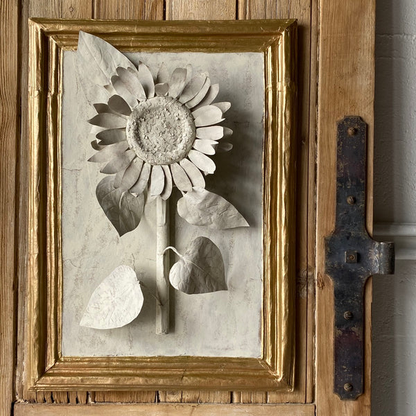 Handmade Papier-mâché Sunflower Botanical (single)