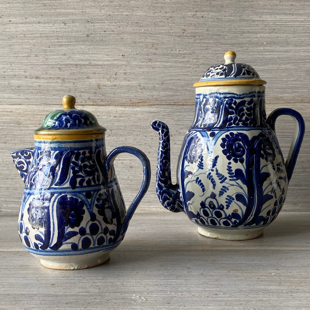 Pair of Mexican 1920 Tea Pots & Creamer - Get the Gusto, Pottery - interior design, shop Get the Gusto - Get the Gusto, Amazon Get the Gusto - gusto shop