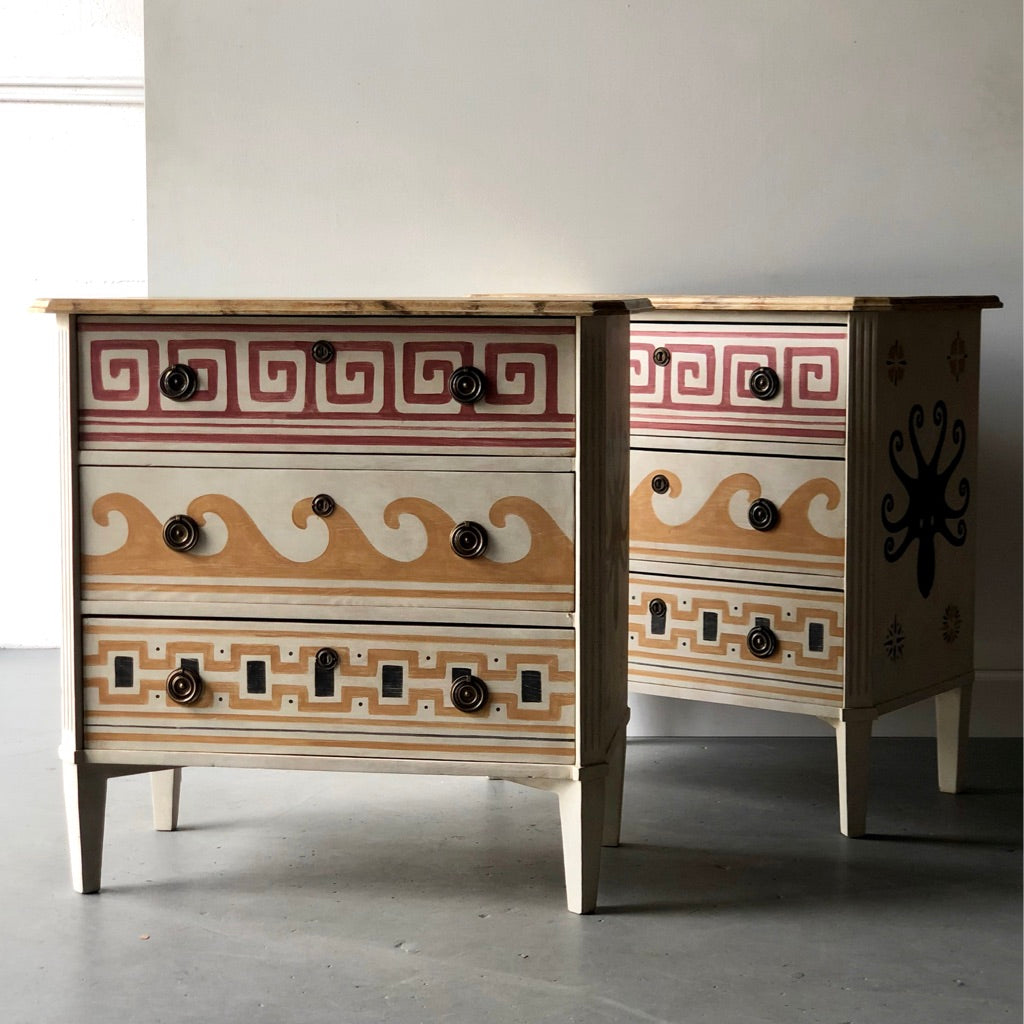 Pair of Villa Kerylos Chests - Get the Gusto, commode - interior design, shop Get the Gusto - Get the Gusto, Amazon Get the Gusto - gusto shop