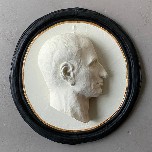 Handmade Papier-mâché Caesar Medallion (Left) - Get the Gusto, papermache - interior design, shop Get the Gusto - Get the Gusto, Amazon Get the Gusto - gusto shop