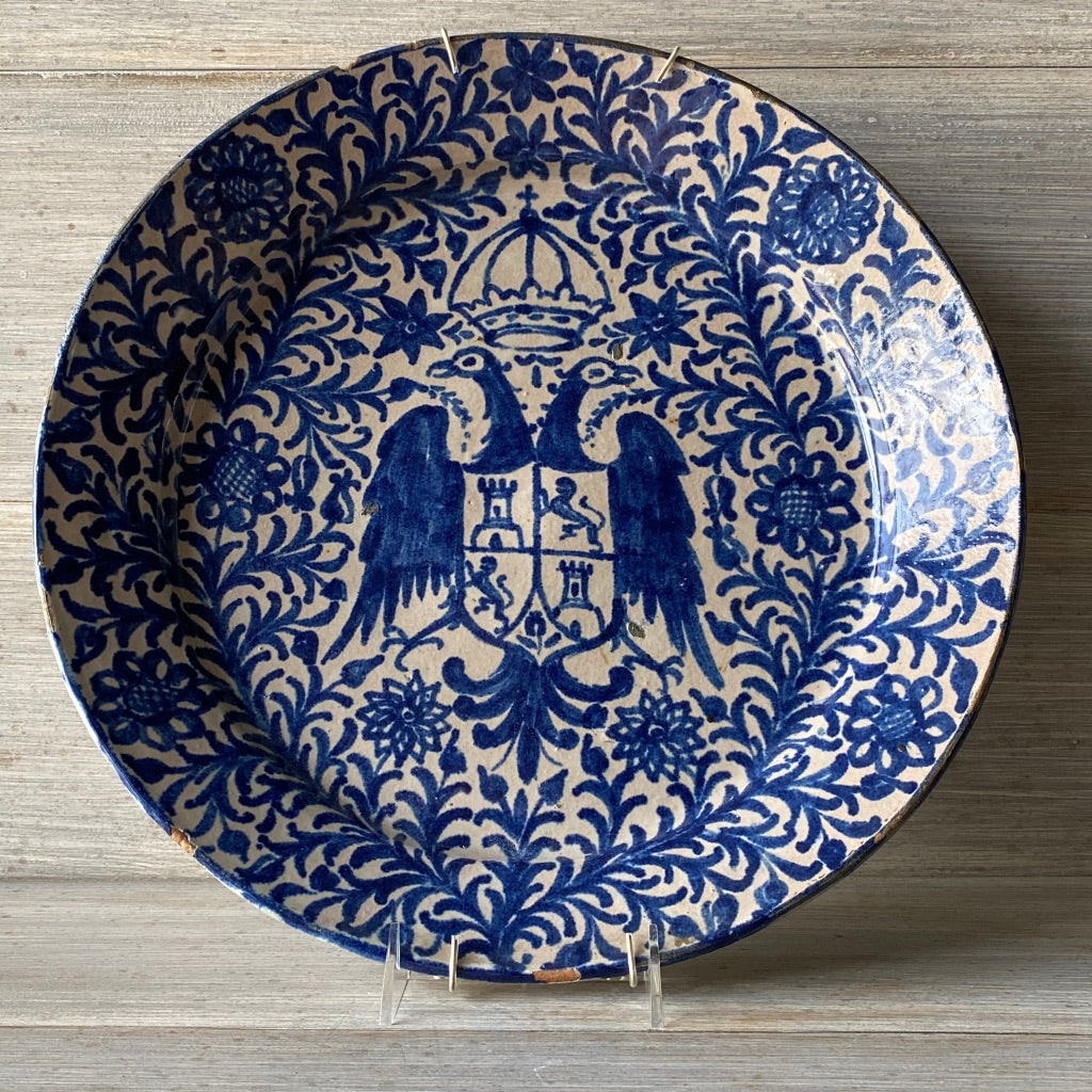 18th C. Spanish Heraldic Plate - Get the Gusto, Pottery - interior design, shop Get the Gusto - Get the Gusto, Amazon Get the Gusto - gusto shop