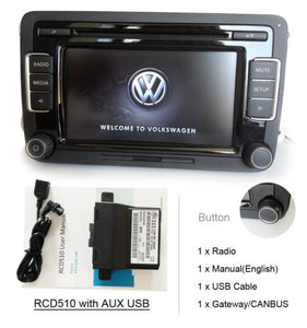 VW Car Stereo Radio RCD510 +Gateway/CANBUS AUX USB GOLF TOURAN JETTA CADDY  POLO