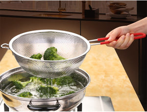 Large Stainless Steel Colander with Silicone Handles
