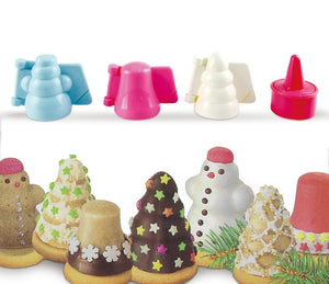 Christmas Cookie Mold 4 Piece Set