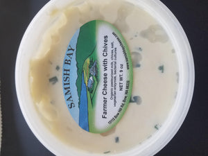 Samish Bay Farmer Cheese with Chives 9oz