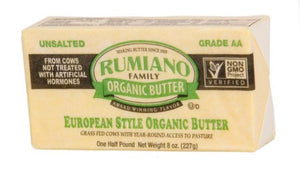 Rumiano Organic Grass-Fed Unsalted Butter 8oz