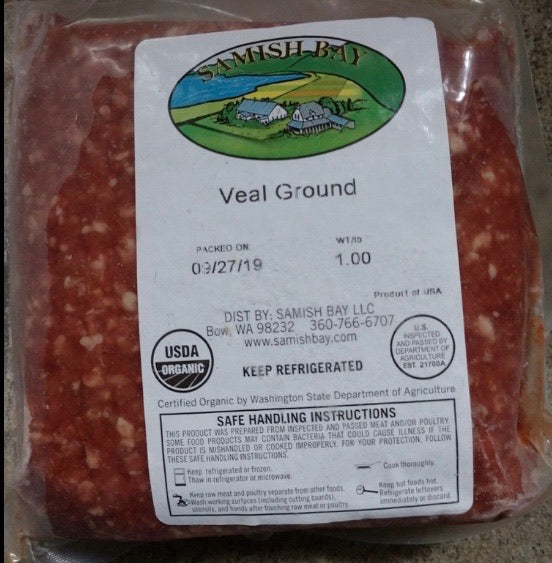 Samish Bay Ground Veal 1lb