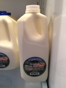 Williams Valley Family Farm Grass-Fed Raw Milk 1/2 Gallon