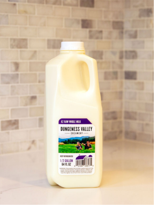 DVC 100% A2 Raw Cows Milk 1/2 Gallon