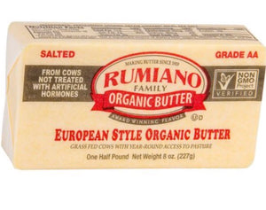 Rumiano Organic Grass-Fed Salted Butter 8oz. Back in stock January 10th