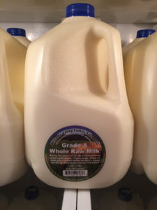 Williams Valley Family Farm Grass-Fed Raw Milk Gallon