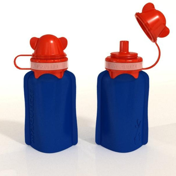 My Squeeze Reusable Silicone Food Pouch - Navy/Red
