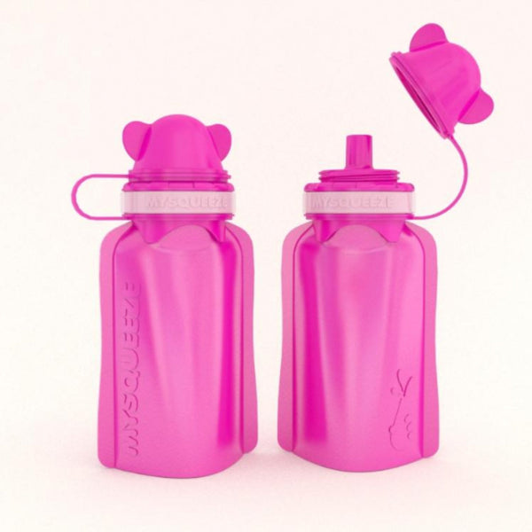 My Squeeze Reusable Silicone Food Pouch - LE Pink/Pink