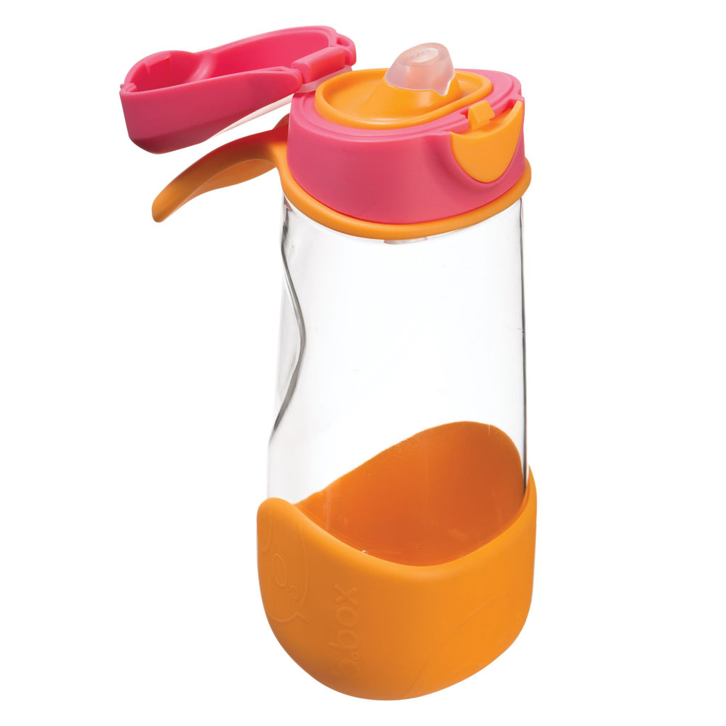 b.box Sport Spout Drink Bottle - Strawberry Shake