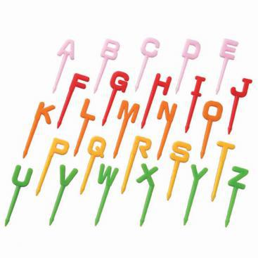 Alphabet Letters Food Picks
