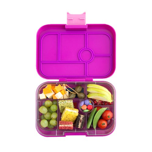 yumbox original 6 lunch box bijoux purple the bento buzz. Black Bedroom Furniture Sets. Home Design Ideas