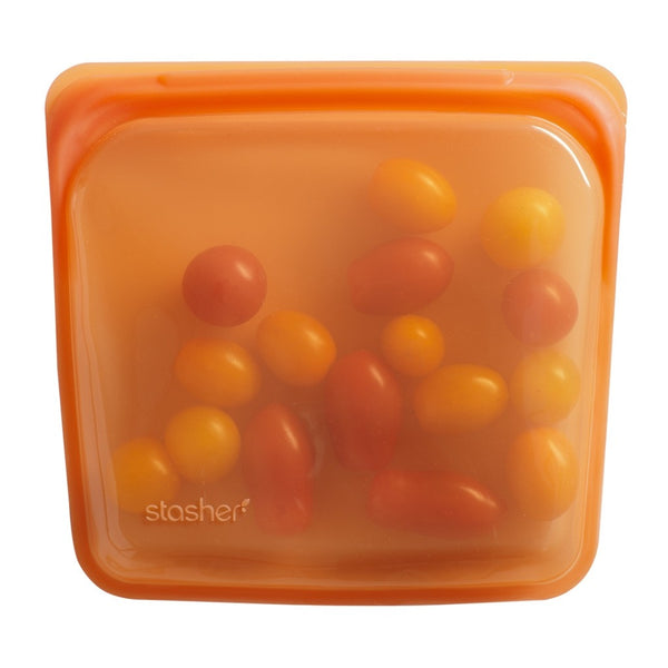 Stasher Reusable Silicone Bag - Sandwich - Citrus