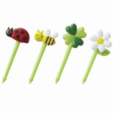 Lady Bugs & Bees Food Picks
