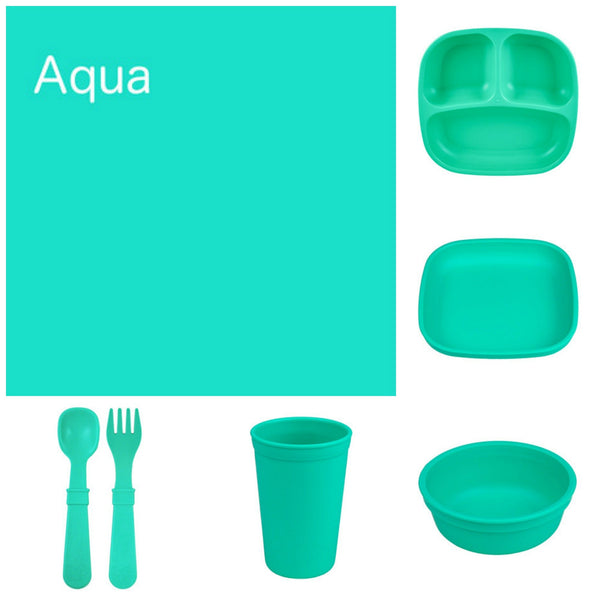 Re-Play Recycled Dinner Set - Aqua