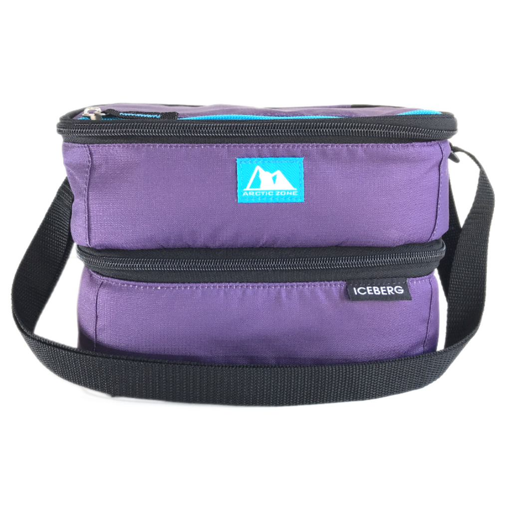 Arctic Zone Dual Layer Insulated Bag - Purple