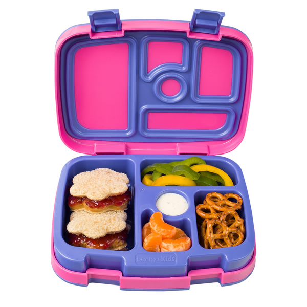 Bentgo Kids Lunch Box - Brights - Pink/Purple