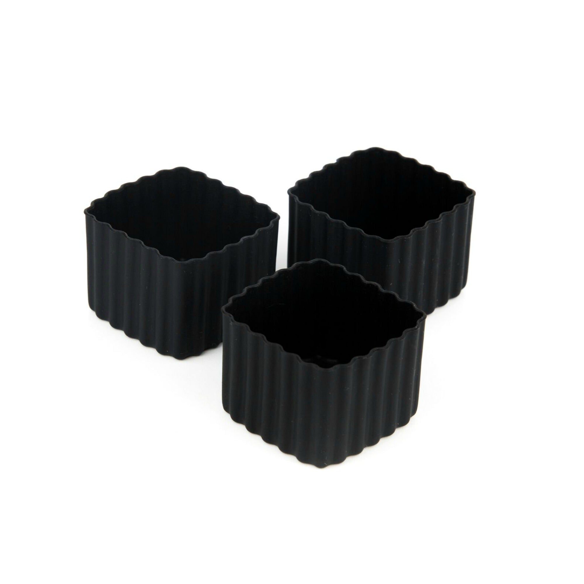 Little Lunch Box Co Square Bento Cups - Black