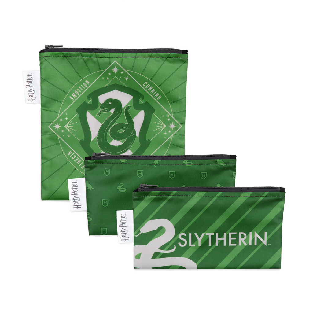 Harry Potter Reusable Snack Bags - Slytherin