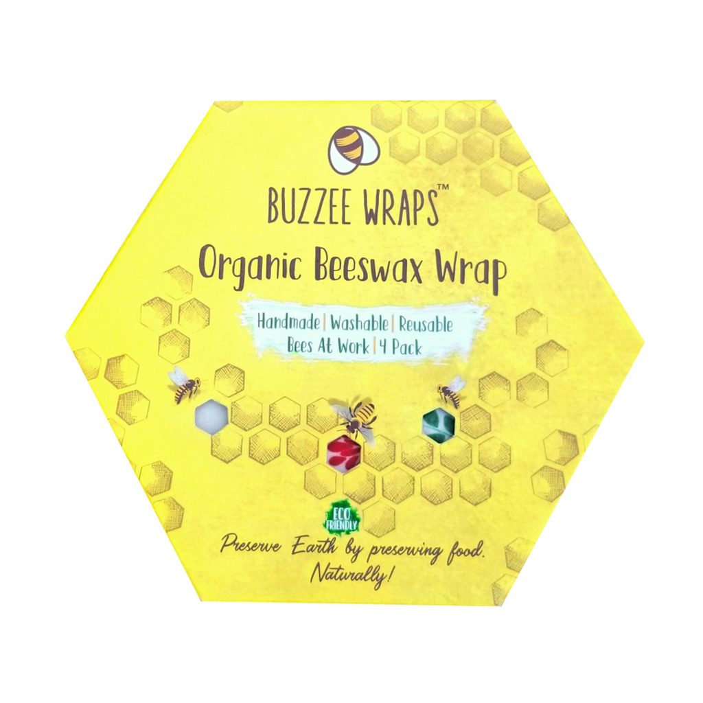 7aeeb6f58970a Buzzee Reusable Organic Beeswax Wraps - Bees At Work