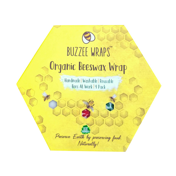 Buzzee Reusable Organic Beeswax Wraps - Bees At Work