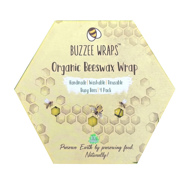 Buzzee Reusable Organic Beeswax Wraps - Busy Bees