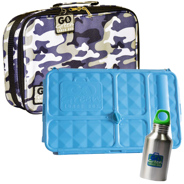 PRE-ORDER - Go Green Lunch Box Set - Blue Camo