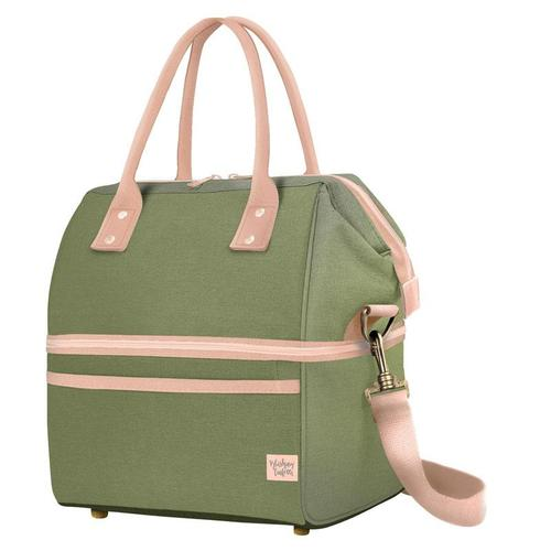 Blushing Confetti Insulated Picnic Bag - Olive Fields - LAST ONE!