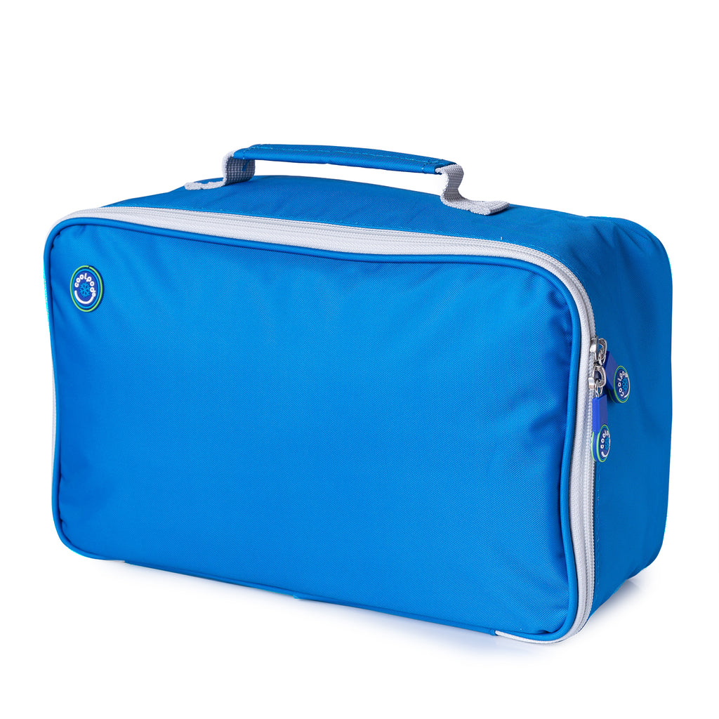 CoolPod Freezable LARGE Insulated Bag - Blue & Grey