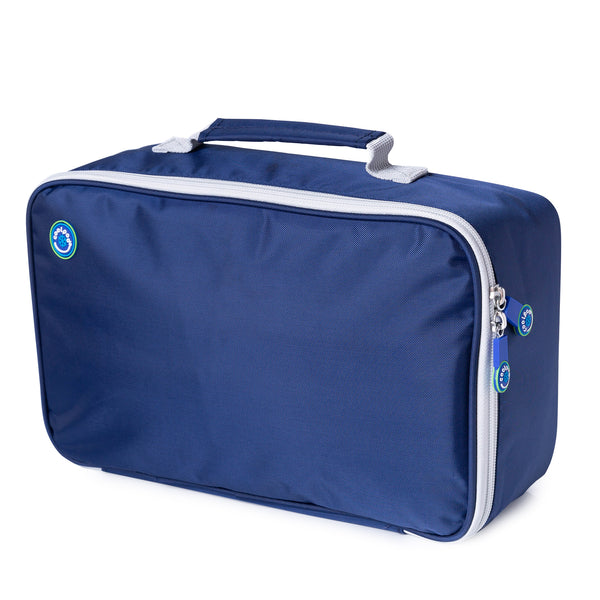 CoolPod Freezable LARGE Insulated Bag - Navy & Grey
