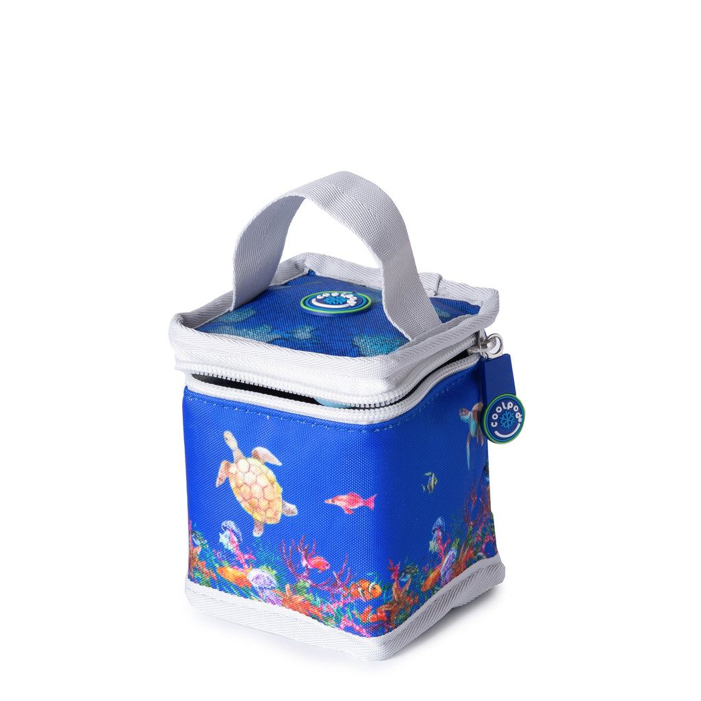 CoolPod Freezable Yoghurt Insulated Bag With Spoon - Barrier Reef