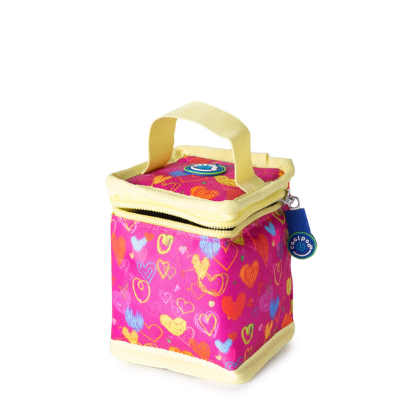 CoolPod Freezable Yoghurt Insulated Bag With Spoon - Hearts