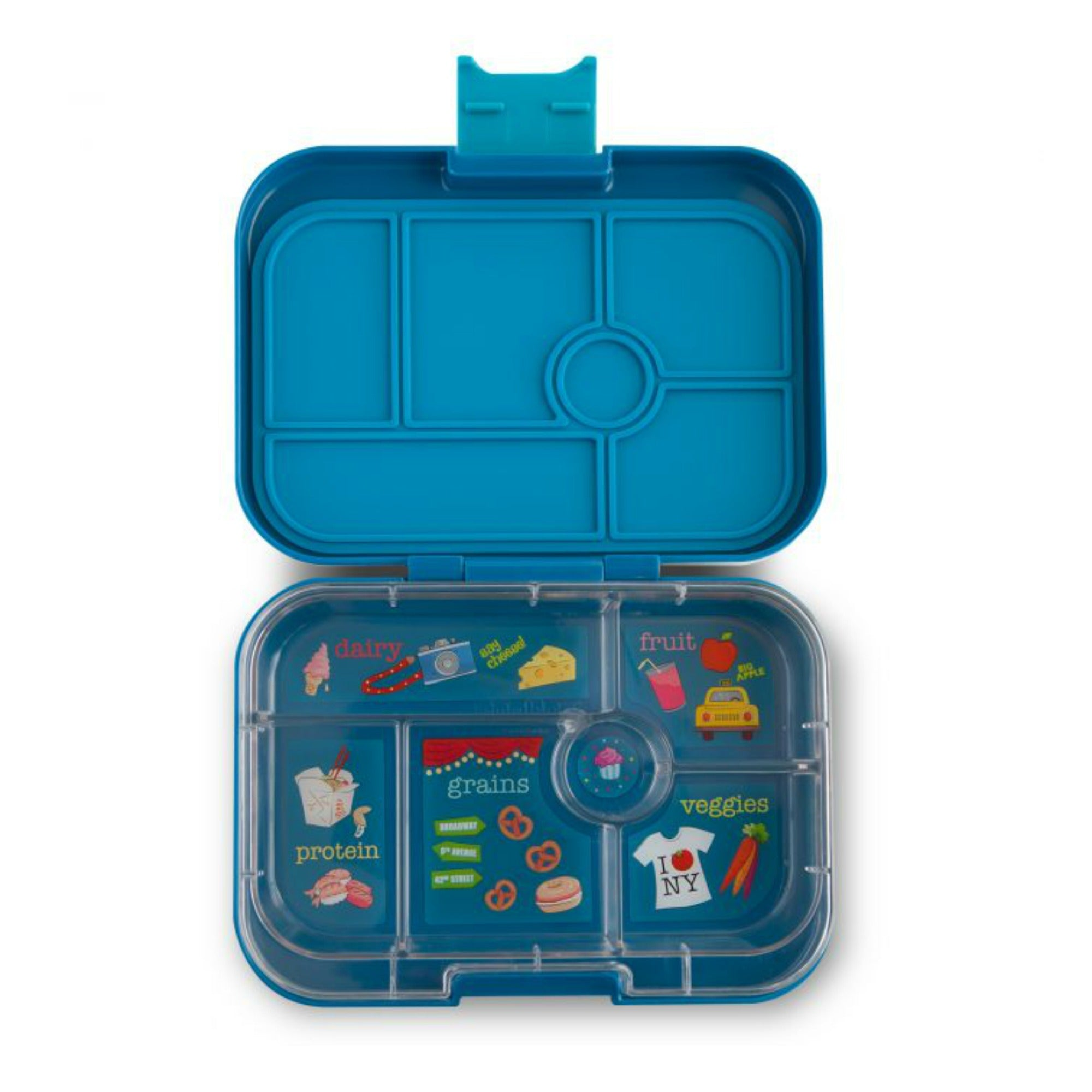Yumbox Original 6 Lunch Box - Empire Blue