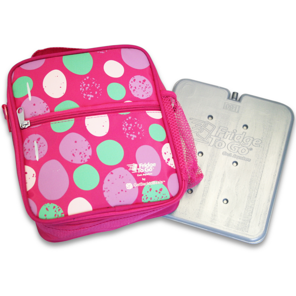 Fridge To Go Insulated Bag - Medium - Pink Stones