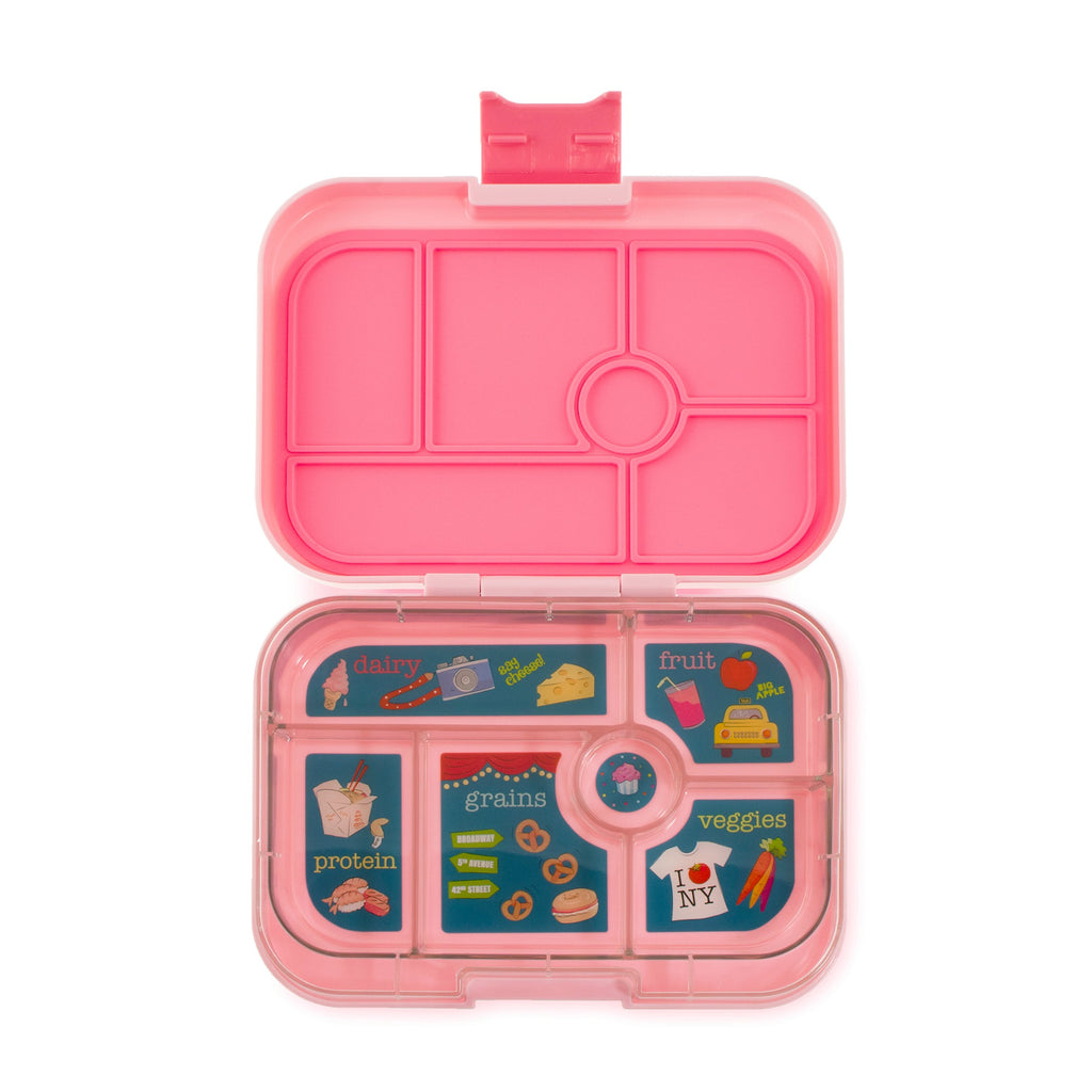 Yumbox Original 6 Lunch Box - Gramercy Pink