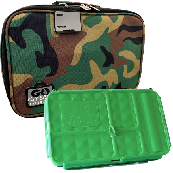 Go Green Lunch Box Set - Green Camo
