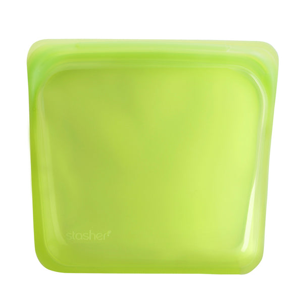 Stasher Reusable Silicone Bag - Sandwich - Lime