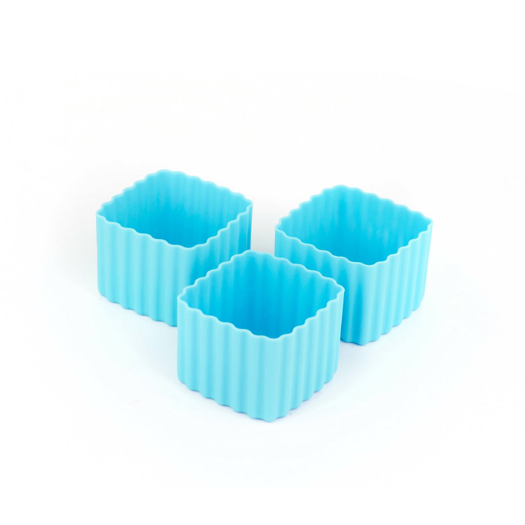 Little Lunch Box Co Square Bento Cups - Light Blue