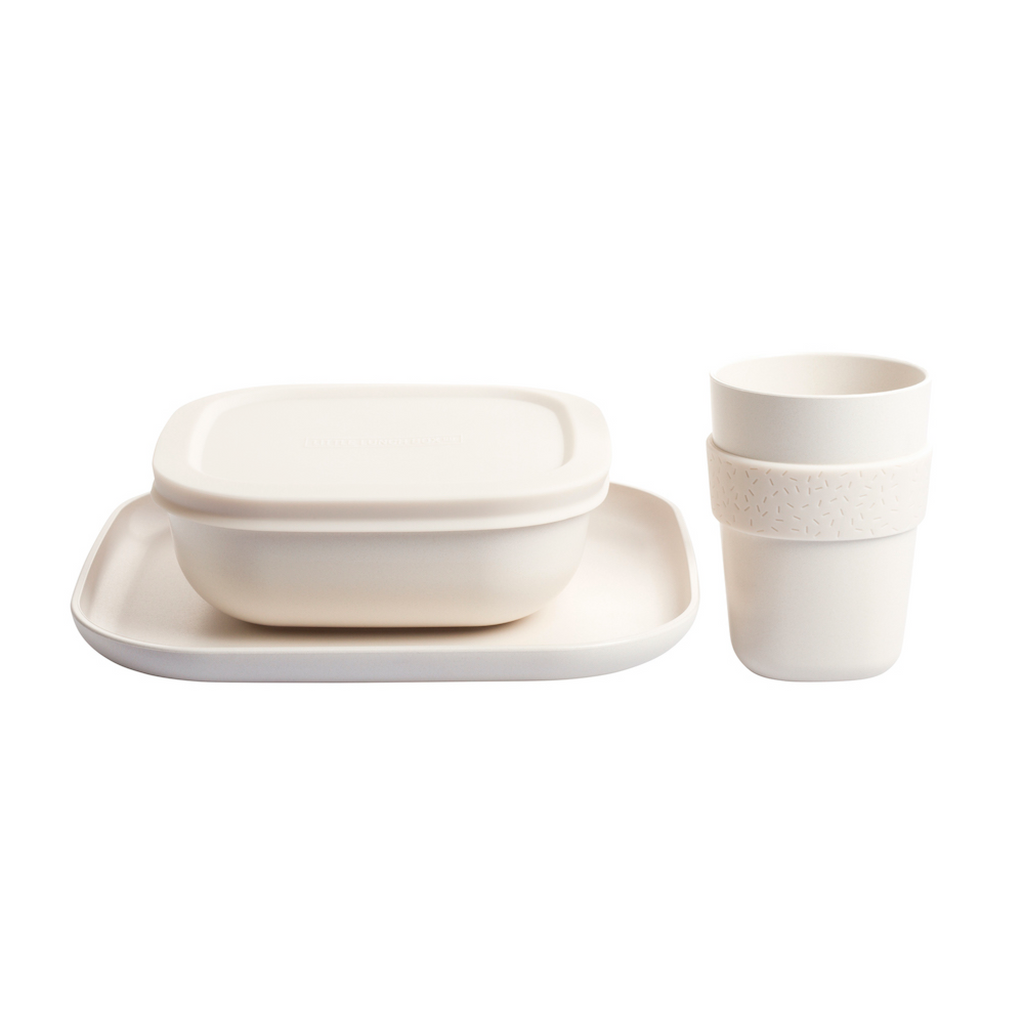 Little Lunch Box Co Bamboo Dinnerware - Natural White