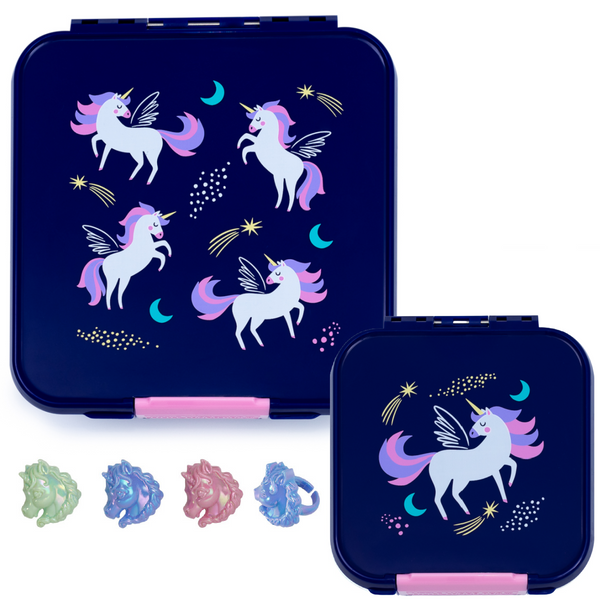Little Lunch Box Co. Bento Five & Two Bundle - Magical Unicorn